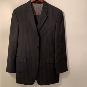 Calvin Klein single breasted grey pinstripe suit